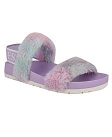 Women's Fabin Furry Logo Sandals