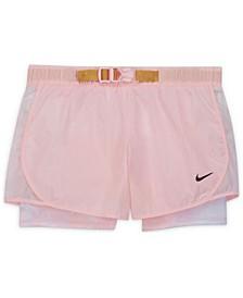 Big Girls Tempo Tie-Dye Running Shorts