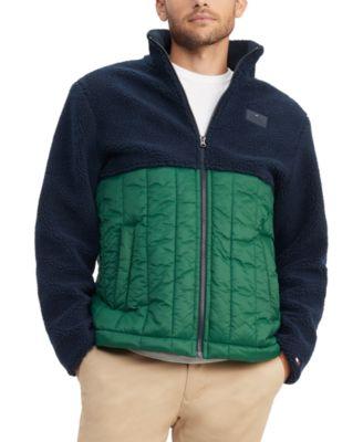 Men's Buckley Mix-Media Colorblocked Puffer Jacket
