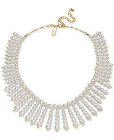 "INC Gold-Tone Imitation Pearl All-Around Statement Necklace, 17"" + 3"" extender, Created for Macy's"