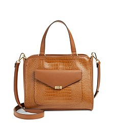 Embossed Tessa Satchel