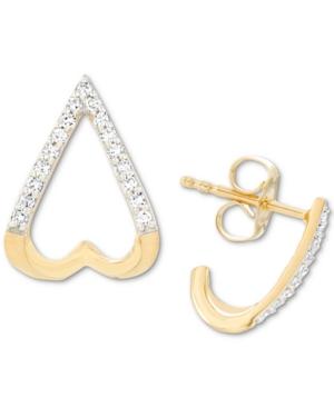 Diamond Openwork Stud Earrings (1/10 ct. t.w.) in 18k Gold-Plated Sterling Silver