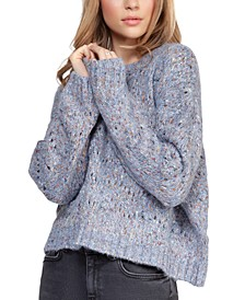 Open-Knit Marled Sweater