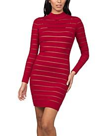 Shutter-Style Sweater Dress