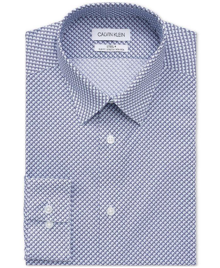 Calvin Klein - Men's Steel Slim-Fit Stretch Performance Dress Shirt