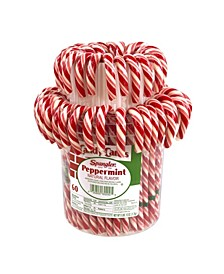 Peppermint Candy Cane Jar, 60 Count