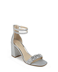 Jewel Badgley Mischka Women's Natala Block Heel Evening Sandal