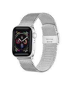 Unisex Stainless Steel Silver-Tone Loop Band for Apple Watch, 38mm