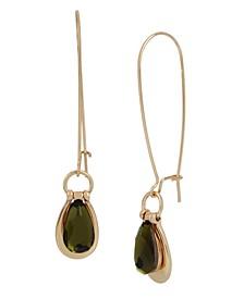 Olivine Doorknocker Dangle Earrings