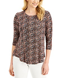 Printed 3/4-Sleeve Top, Created for Macy's