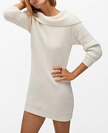 Women's Boat Neck Knit Dress