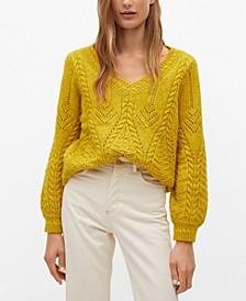 Women's V-Neckline Oversize Sweater