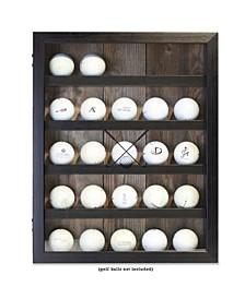 "Golf Ball Shadow Box Display Case - Holds 25 Logo Balls, 11"" x 14"""