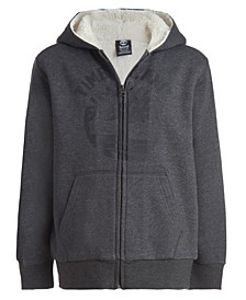 Big Boys Tree Sherpa Lined Zip Hoodie