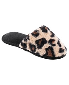 Totes Women's Faux Fur Scuff Slippers