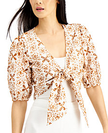 INC Cotton Eyelet Crop Top, Created for Macy's