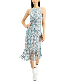 INC Space-Dyed Halter Dress, Created for Macy's
