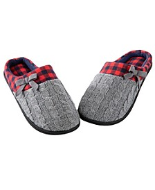 Totes Women's Sweater Knit Slippers