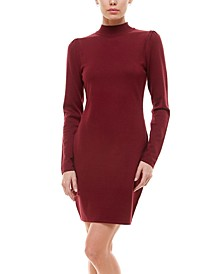 Juniors' Puff Sleeve Sweater Dress