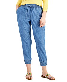 Petite Cotton Jogger Pants, Created for Macy's