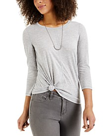 Petite Scoop-Neck T-Shirt, Created for Macy's