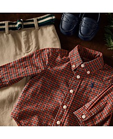 Ralph Lauren Baby Boys Shirt, Belt & Chino Pant Set