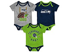 Seattle Seahawks Newborn Champ 3piece Set