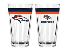 Denver Broncos 16-oz. Double-Banded Pint Glass