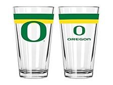 Oregon Ducks 16oz Double Banded Pint Glass