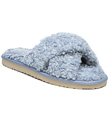 Women's Jeane Fluffy Crisscross Slippers