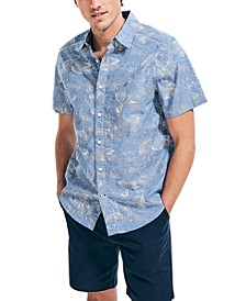 Men's Classic-Fit Outline Floral Print Shirt