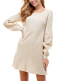 Juniors' Knit Sweater Dress