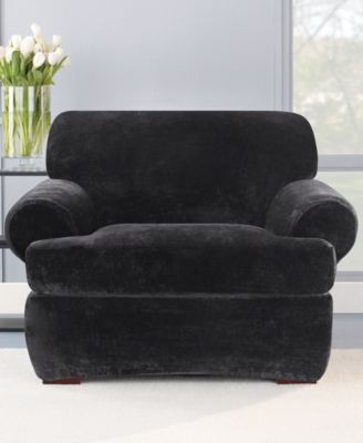 Stretch Plush 2-Piece T-Chair Slipcover