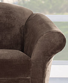 Sure Fit Stretch Plush 2-Piece Sofa Slipcover