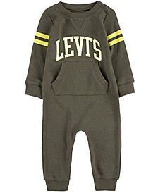 Baby Boys Collegiate Knit Coverall
