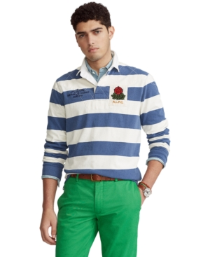 Polo Ralph Lauren Downs MEN'S CLASSIC-FIT STRIPED JERSEY RUGBY SHIRT