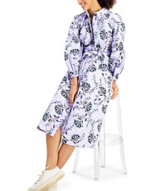 Cotton Floral-Print Midi Dress, Created for Macy's