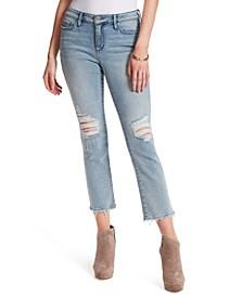 Arrow Straight-Leg Ankle Jeans