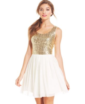 Juniors Sequin Dress