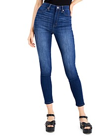 Juniors' Curvy High Rise Skinny Jeans