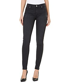 Mid-Rise Solid Side-Striped Super Skinny Ankle Jeans