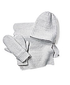INC Chevron Knit Beanie, Scarf & Mittens Collection, Created for Macy's