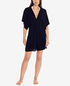 Lauren by Ralph Lauren Crushed Tunic Cover-Up Dress