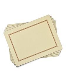 Classic Cream Placemats, Set of 4
