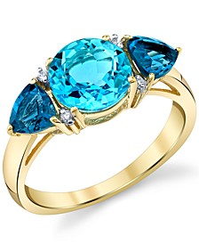 Blue Topaz (3-7/8 ct. t.w.) & Diamond Accent Ring in 14k Gold