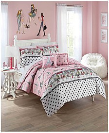 Kids Ooh La La Full/Queen Bedding Collection, 3 Piece