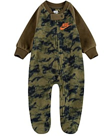 Baby Boys Crayon Camo Microfleece Footed Coverall