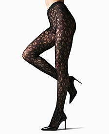 Women's Leopard Net Tights Hosiery