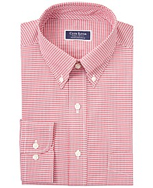 Men's Classic/Regular Fit Stretch Mini Gingham Dress Shirt, Created for Macy's