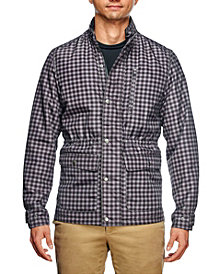Tallia Men's Slim Fit Shadow Check Print Field Jacket and a Free Face Mask